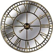 Zulia Large Skeleton Mirrored Wall Clock In