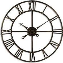 Zulia Small Skeleton Metal Wall Clock In Antique