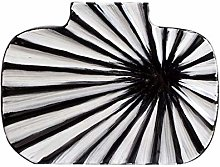 zunruishop Ceramic Black and White Striped