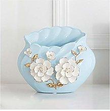 zunruishop Ceramic Blue Large-caliber Hand-kneaded