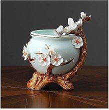 zunruishop Ceramic Chinese Style Simulation Flower
