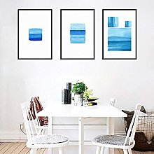 zuomo Abstract Blue White Canvas Posters Print