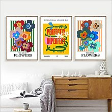 zuomo Abstract Colorful Flowers Poster and Print