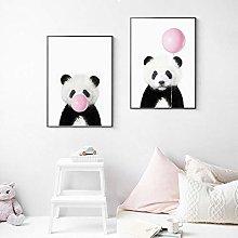 zuomo Baby Panda Print Animal With Bubble Gum