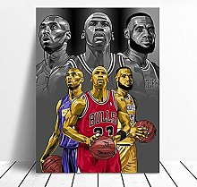 zuomo Basketball Football Sports Star Poster Wall