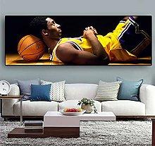 zuomo Basketball Star Classic Kobe Canvas Poster