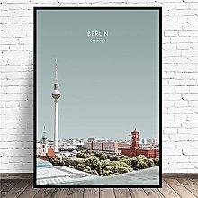 zuomo Berlin Travel Canvas Wall Art Print Modern