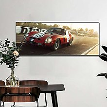 zuomo Famous Car Racing Poster Canvas Painting