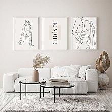 zuomo Fashion Line Drawing Sketch Female Poster