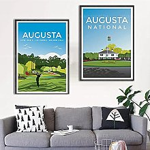 zuomo Golf Travel Poster Print for Prints Classic