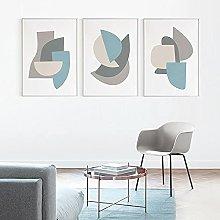 zuomo Modern Abstract Geometric Stitching Art