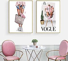 zuomo Modern Fashion Wall Art Poster Print Girl