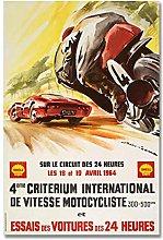zuomo Motor Cycle Racing Posters Original Painting