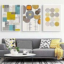 zuomo Nordic Multicolor Abstract Geometric Art