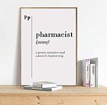 zuomo Pharmacist Definition Print Gift For Doctor