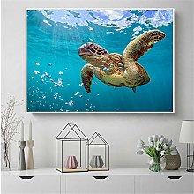 zuomo Sea Turtle Painting Art Print Ocean Turtle