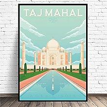 zuomo Taj Mahal India Travel Canvas Art Print Wall