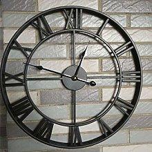 Zuonuoo Iron Roman retro creative big wall clock