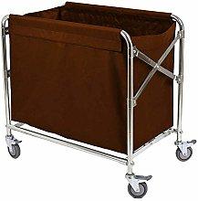 ZUQIEE Cart Trolley On Wheels Tool Folding Linen
