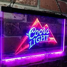 zusme Coors Light Beer Bar Novelty LED Neon Sign