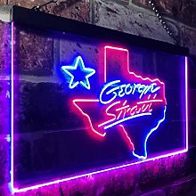 zusme Coors Light George Strait Texas Novelty LED