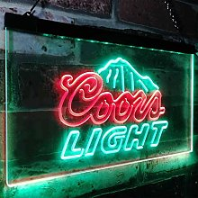zusme Coors Light Mountain Beer Bar Novelty LED