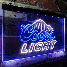 zusme Coors Light Mountain Beer Bar Novelty LED