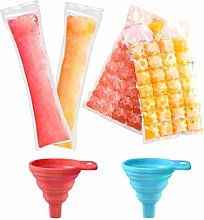 Zuzer Ice Mold Maker 100pcs Ice Lolly Bags