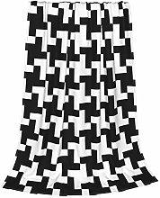 ZVEZVI Black And White Distort Checkered Kids