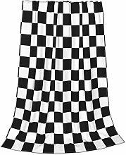 ZVEZVI Black White Racing Checkered Checker Kids