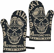 ZVEZVI Motorcycle Skull With Helmet 2pcs Oven