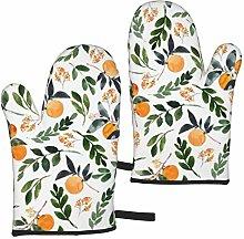 ZVEZVI Orange Grove Watercolor Pattern 2pcs Oven