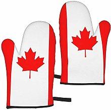 ZVEZVI Oven Mitts,Canada Flag Maple Leaf Home