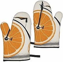 ZVEZVI Oven Mitts,Orange Tricycle Home Extreme