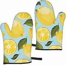 ZVEZVI Oven Mitts Yellow Lemon The Arts Heat