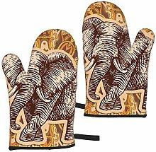 ZVEZVI Stylized Fantasy Patterned Elephant Hand