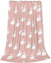 ZVEZVI White Bunny Rabbit Kids Adults Ultra-Soft
