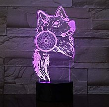 ZWANDP The Wolf and The Dream Catcher 3D Lamp