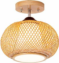 ZWDEDIAN Bamboo Art Ceiling Light Chandelier
