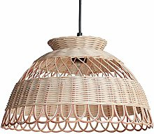 ZWDEDIAN Ceiling Light Fixtures Chandeliers Bamboo