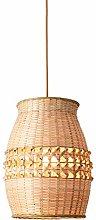 ZWDEDIAN Chinese Style Bamboo Chandelier Weaving