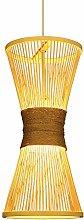 ZWDEDIAN Nordic Bamboo Woven Chandeliers Japanese