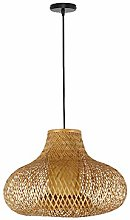 ZWDEDIAN Pendant Light Fixtures Retro Bamboo Woven