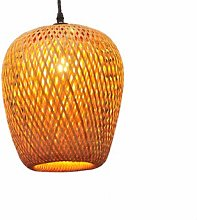 ZWDEDIAN Rattan Handmade Bamboo Woven Chandelier