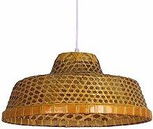 ZWDEDIAN Retro Straw Hat Bamboo Woven Lamp Chinese