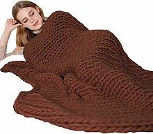 ZWDM Chunky Knit Throw Blanket Beautiful Home