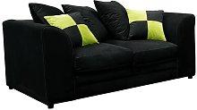 Zweiersofa Hoch Brayden Studio Upholstery: Black