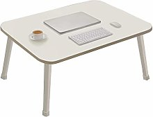 ZWJLIZI Folding Table, H35cm White Low Table, Home