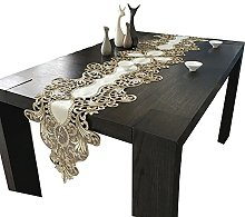 ZWL Embroidered Hollow Table Mat, Long Table