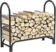 ZWMG Firewood Rack Fireplace With Wood Frame